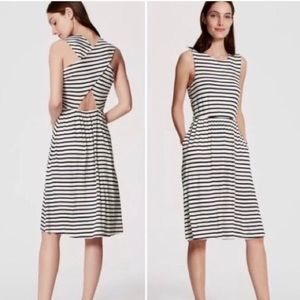 LOFT Striped Cross Back Dress